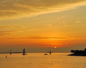 Key West at Sunset. Nature Photography. Fine Art. Home Decor. Wall Art