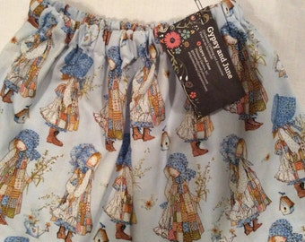 Holly Hobbie, Vintage Style, Cotton Blend, Toddler Skirt (2T)