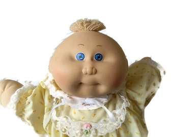 Cabbage Patch Preemie Doll, 1985 CP doll, Vintage 1980 toy, Cabbage Patch clothes, adopt me doll,Xavier Roberts doll, Cabbage Patch kid doll