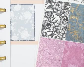 12 Midnight Dreams Full Box Happy (MAMBI) Layout Planner Stickers (NF064) High Gloss, Semi-Gloss, Matte Stickers
