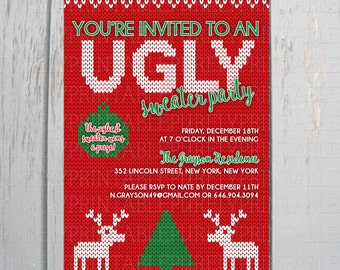 Printable Ugly Sweater Party Invitation