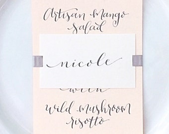 Place Cards – calligraphy placecards – bespoke wedding – special event