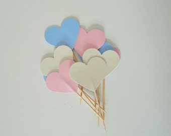 Cupcake toppers - baby shower cupcakes - birthday cake toppers - wedding cake toppers - cake decorations - Make your party personal