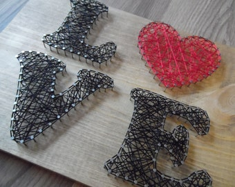 Love String Art, String Art, String art, Love string art, Love Decor, Home Decor, Home love decor, Love Art, Love Sign
