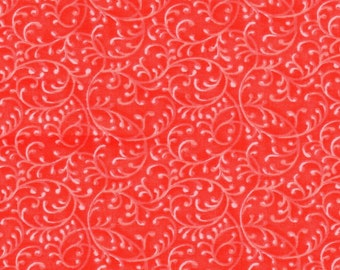Red Swirl Quilting 100% Cotton Fabric