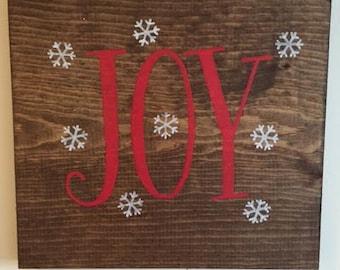 """Wood """"Joy"""" Sign"""