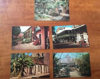 5 Vintage Postcards New Orleans, La - Souvenir