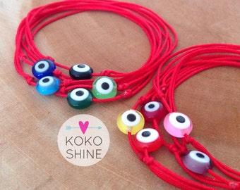 Evil Eye String bracelet, Red string Bracelet, Kabbalah Bracelet, Evil Eye bracelet, Spiritual Bracelet, Red Evil Eye Bracelet