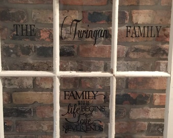 Personalized 6-pane old window