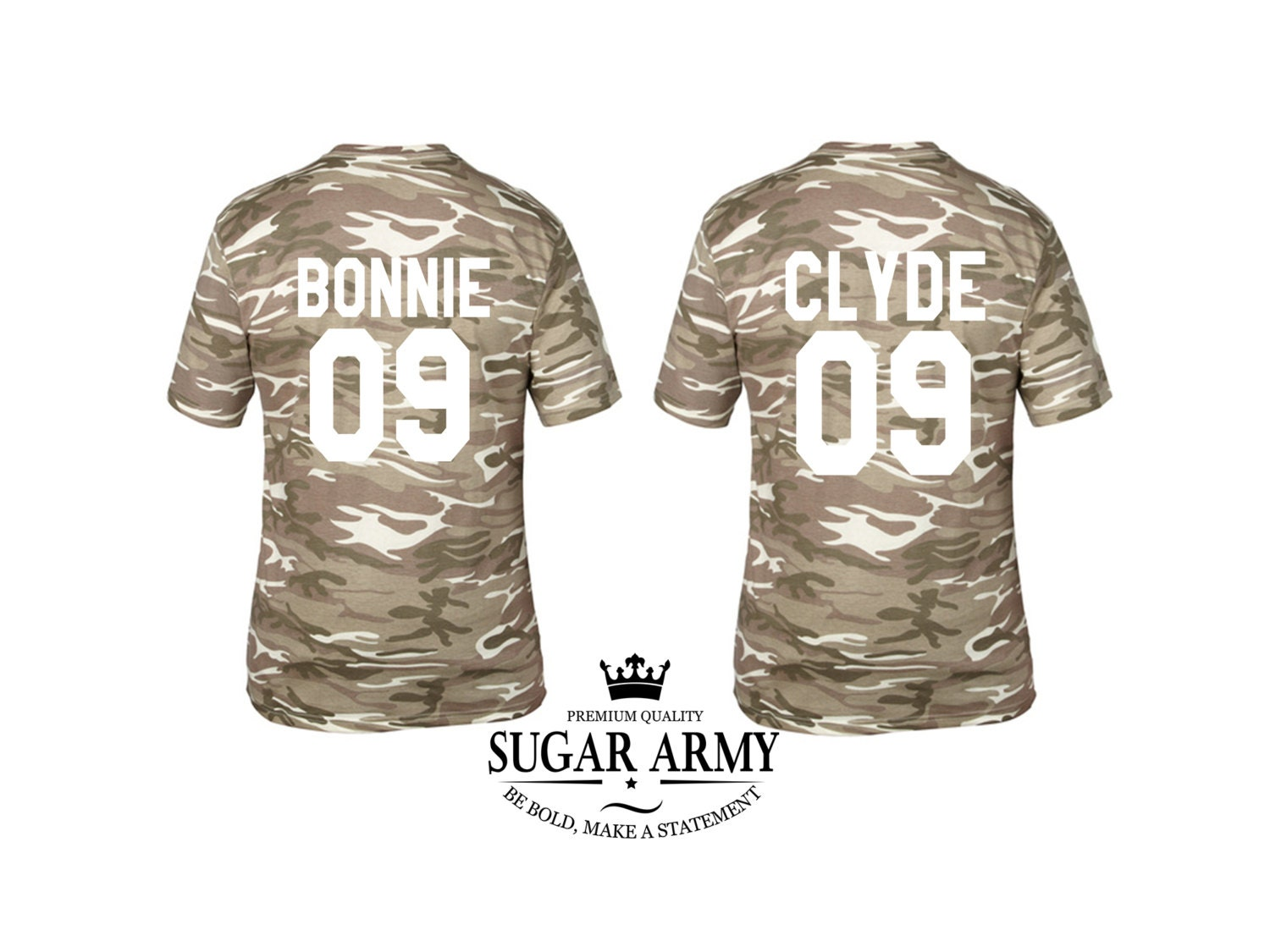 bonnie and clyde shirts couple matching shirts bonnie and. Black Bedroom Furniture Sets. Home Design Ideas