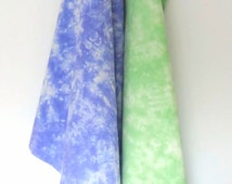 Green Tea Towel - Purple Tea Towel - Gift Towels - Set of 2 - Hand-Dyed