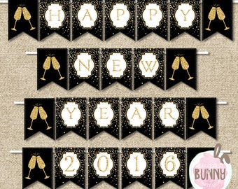 New Year's Eve Party Banner INSTANT DOWNLOAD Printable PDF