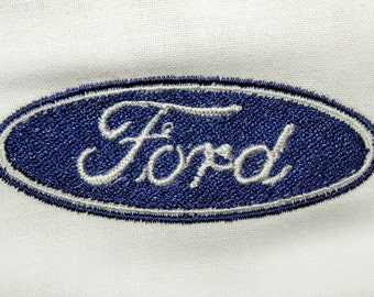 Ford Logo Machine Embroidery Design - 4 sizes, instant download pattern
