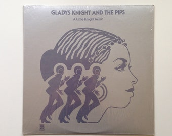 "Vintage Album: Gladys Knight and the Pips ""A Little Knight Music"" - Vinyl Record, 1970s Music, Motown, Soul Music"