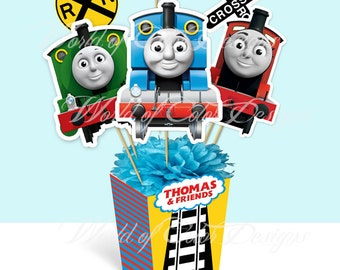 "Printable Centerpiece ""Thomas and Friends"" (Instant download)"