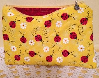 Ladybug Zippered Everything Bag