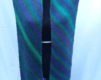Dragonfly Diagonal Knit Scarf