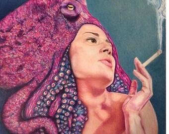 Print octopus girl