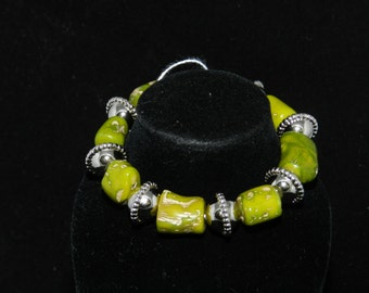 Green Coral Stretch Bracelet