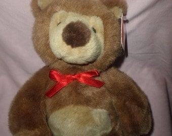 """Gund Bear plush Eddie Teddie  NWTS 10"""" gund vintage bear eddie"""
