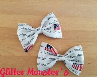 Boys Red, White, and Blue Bow Tie, Patriotic Boys Bow Tie, Patriotic Cotton Bow Tie, Groomsmen Bow Tie, Patriotic Summer Wedding Bow Tie