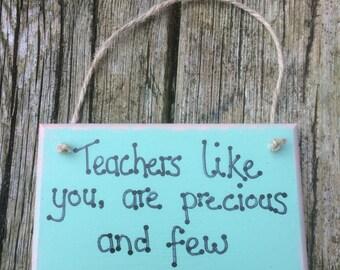 Handmade teacher plaque