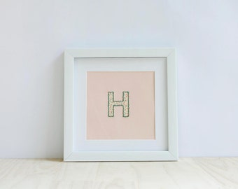 Nursery decor - initial