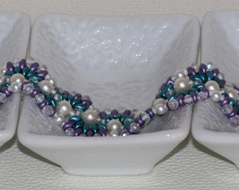 Turquoise and Lavender Bracelet