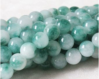 B10 Natural Blue Chalcedony Beads,Full Strand 6 8 12mm Round Blue and White Chalcedony Semi Precious Beads Supplies