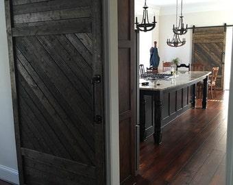 custom made handmade wooden interior rustic sliding barn doors