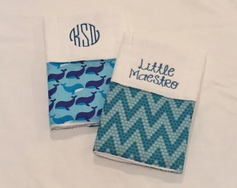 Personalized Burp Cloths - Set of 2