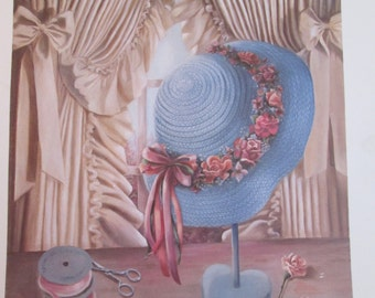 1988, Limited Edition, Art Print ~ VIVIAN FLASCH ~ Ruffles 'n Ribbons ~ Signed and Numbered, 405/1000