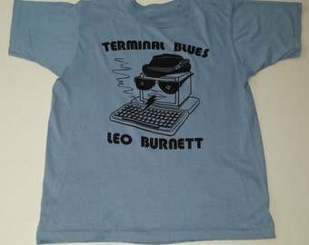 Vintage Terminal Blues Leo Burnett 50/50  graphic tshirt size L