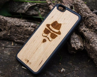 Hips iPhone 6 case, Hipster, Real Natural Wood Iphone 4/4S 5/5S 6/6S case, Walnut, wooden iphone 5 case