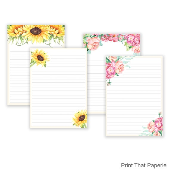 printable stationery writing paper Custom stationery celebrate the art of letter writing with unique custom stationery featuring paper source exclusive designs with your choice of colored envelopes.