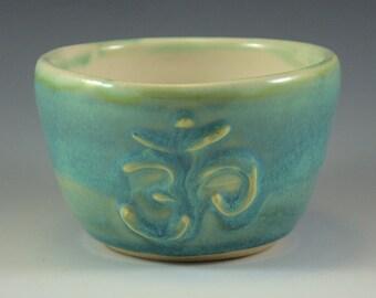 Seafoam OM Bowl - Ice Cream Bowl - Rice Bowl - Soup Bowl - 10 oz - Cream Inside - ceramic - stoneware - ready to ship