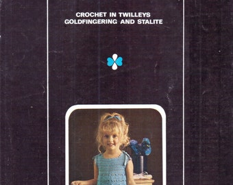 Genuine Vintage 1960s Little Girls Lacy Pretty Dress with Top Ribbons! Crochet Pattern