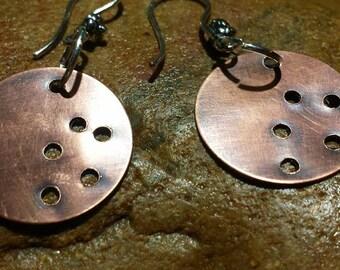 Copper Dangle Earrings~ Artisan Jewelry
