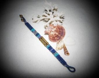 Turquoise and Blue Macrame Bracelet