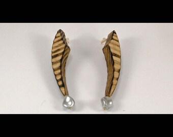 Ash Wood Earrings