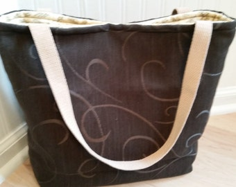 Dark Olive Tote Bag