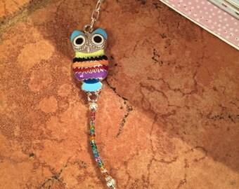 Colorful Owl Planner Charm / Purse Charm / Zipper Charm