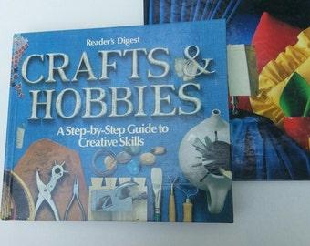 Craft books, Hobby books, DIY books, Sewing books, Vintage craft books, vintage hobby books, How To books,