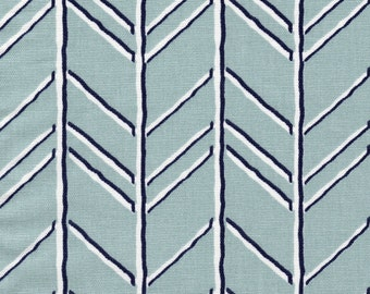 Gathered Bedskirt Bogatell Spa Blue Geometric