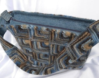 Hand Knit, Felted Wool Purse
