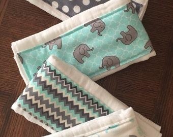Little Zoo Bundle of 5 burp cloths