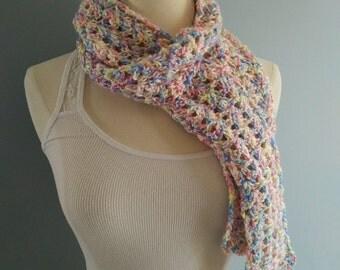 Crochet Scarf // Pastel Scarf // Spring Scarf // Ladies Scarf