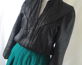 1980's LEATHER LOFT jacket/ Leather Jacket / Vintage Leather / 80's Jacket / Black Leather Bomber Jacket