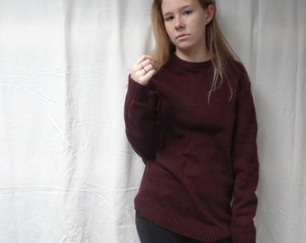 Vintage Burgundy Sweater
