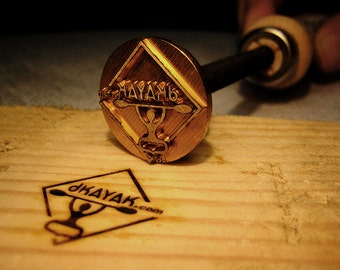woodworking branding iron. 1.2 inches branding iron woodburning stamp wood leather woodworking t